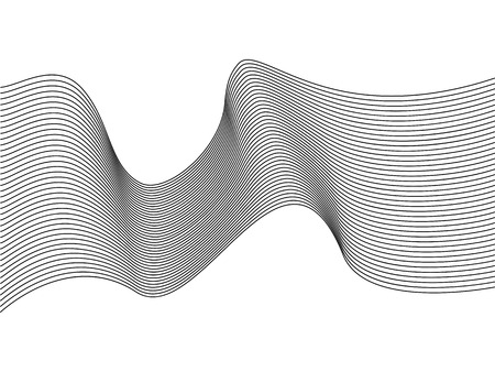 Abstract wave element for design