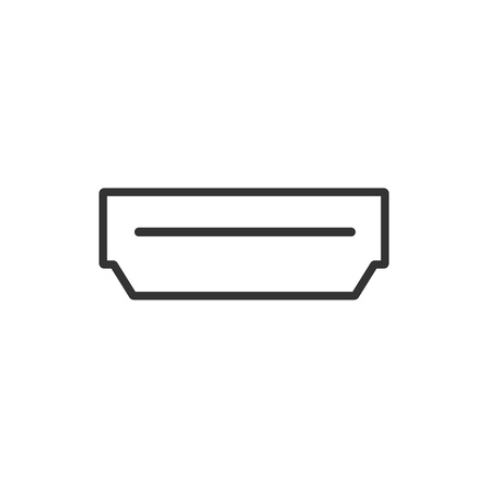 Vector illustration, flat design. Hdmi interface port icon