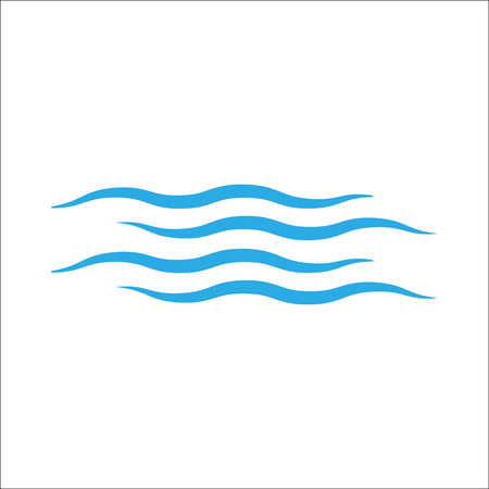Wave icon white background. Vector Flat