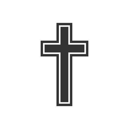 Flat design. Vector illustration. Religion christian cross