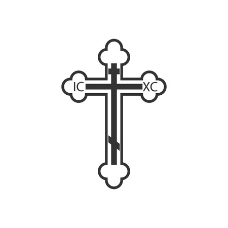 Flat design. Vector illustration Orthodox cross