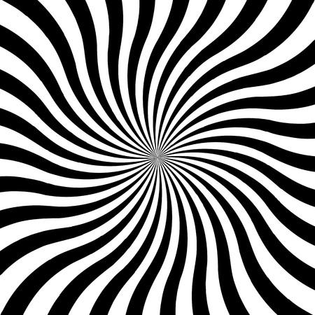 Vector illustration. Hypnotic swirl spiral background