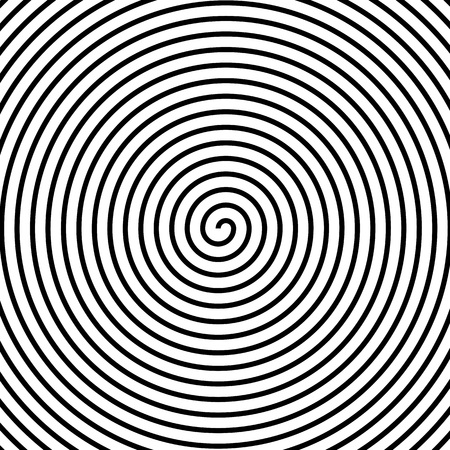 Hypnos Circles Concentric. Abstract concentric circles texture. Vector illustration. Hypnotic swirl spiral background