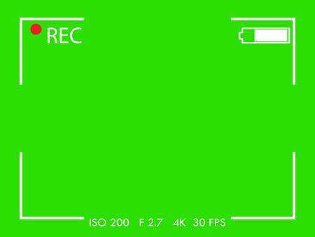 Camera frame viewfinder screen. flat