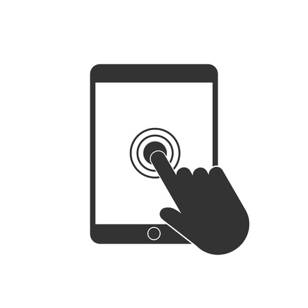 Vector illustration, flat design. touch hand icon Illustration