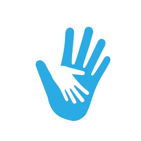 Hand, Wohltätigkeitspflege Symbol Vektor flach