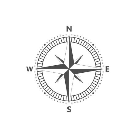 vector icon Compass rose, navigition icon. Vector illustration, flat design