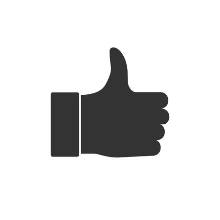 Good, like, thumbs up icon Vector illustration flat Ilustrace