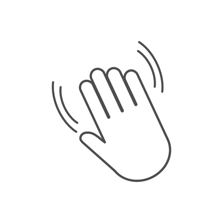 vector icon Hand wave icon