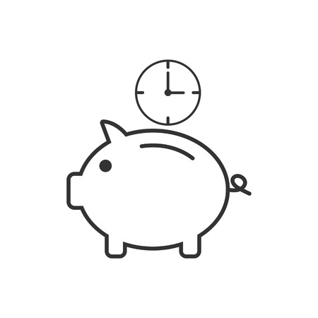 Money saving, time icon Vector illustration