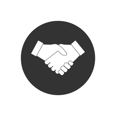 Hand, handshake icon Vector flat design