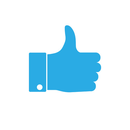 Good, like, thumbs up icon Vector illustration flat Banque d'images - 119013780