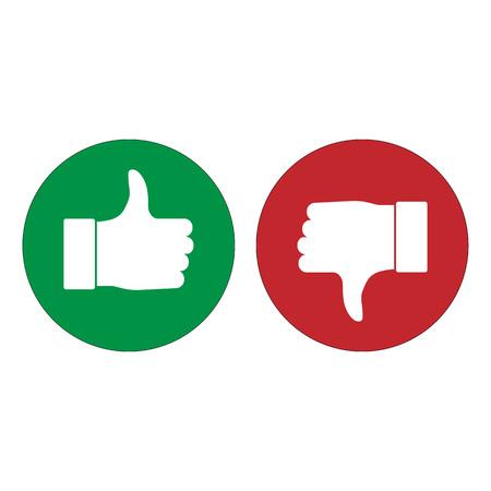 Good, like, thumbs up icon Vector illustration flat Illustration