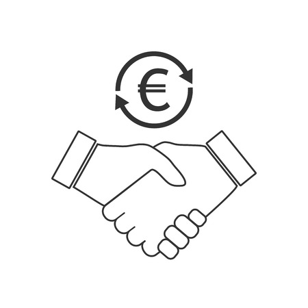 Business handshake icon. Vector flat Stock Illustratie