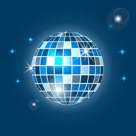 Disco ball background Party and clubbing.