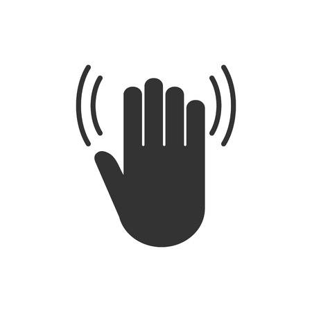 vector icon Hand wave icon