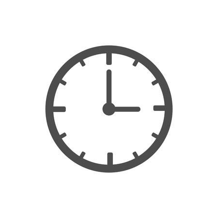 Clock, time, alarm icon Vector illustration flat Illustration