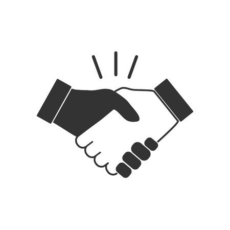 Hand, handshake icon Vector illustration flat