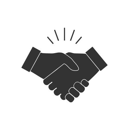 Hand, handshake icon Vector illustration flat