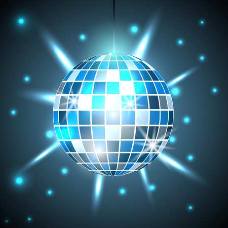 Disco ball background, Party and clubbing.. Vector illustration