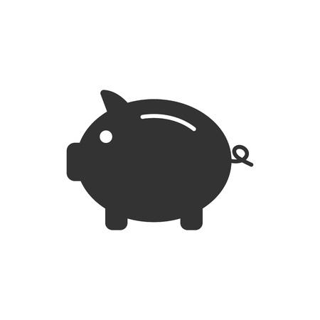 Bank, finance money pig saving icon