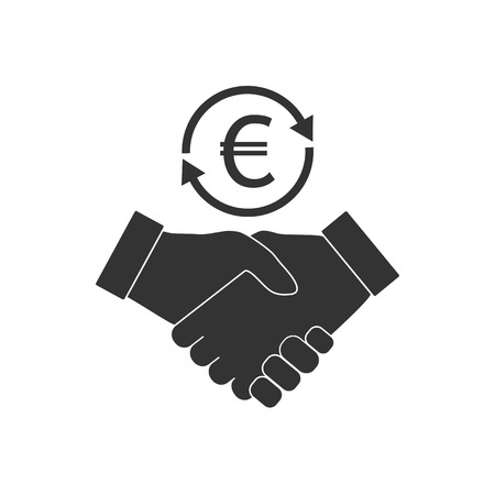Business handshake icon. Vector flat Ilustrace