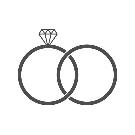 Vector illustration, flat design. Diamond ring icon Ilustrace