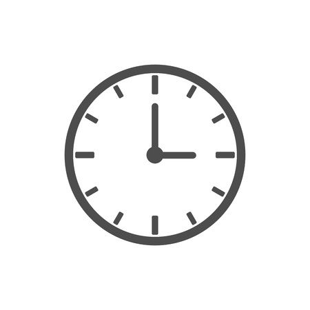 Clock, time, alarm icon Vector illustration flat Ilustrace