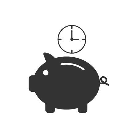 Money saving, time icon Vector illustration
