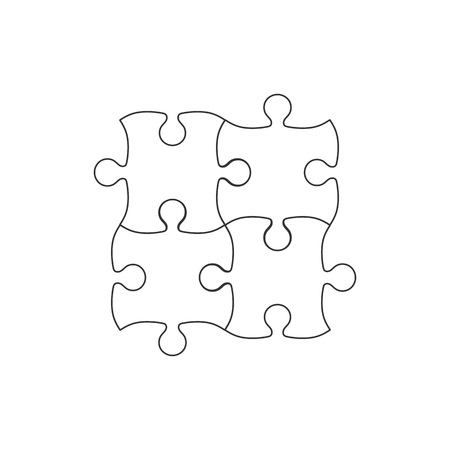 Vector illustration, flat design. Simple puzzle icon Stock Vector - 124517106
