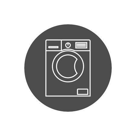 Vector illustration, flat design. Washing machine icon