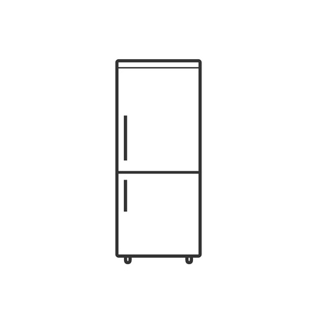 Vector illustration, flat design. Freezer refrigerator icon