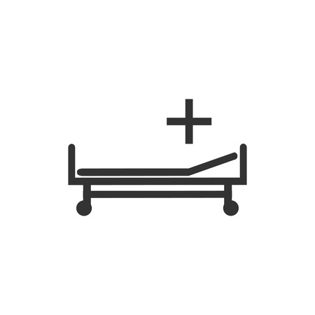 Hospital bed icon. Vector illustration flat Stock Vector - 119696356