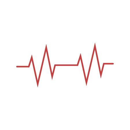 Cardio, heart, heart beat icon Vector illustration flat