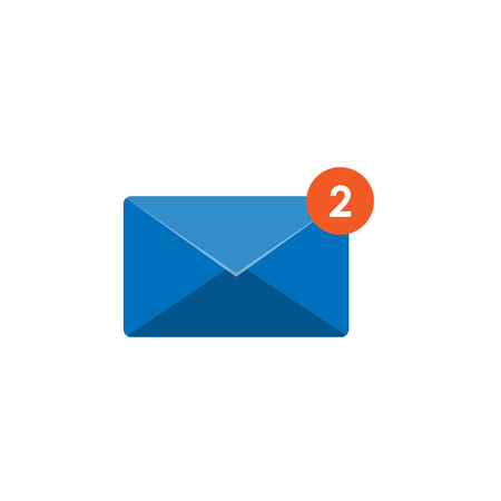 New incoming message icon, message sign. Mail, email Vector