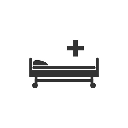 Hospital bed icon. Vector illustration flat Stock Vector - 119696465