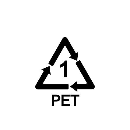 Recyclable plastic. Polyethylene terephthalate Vector Stockfoto - 119696506