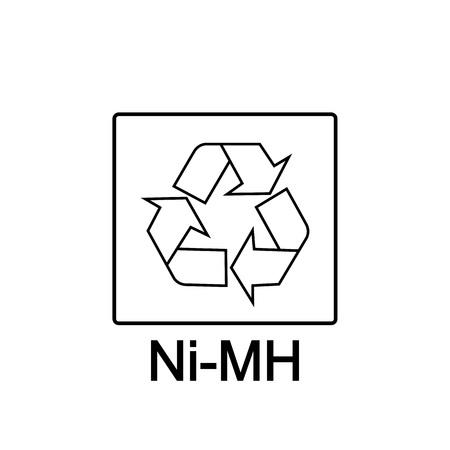 Battery recycling, Nickel-Metal Hydride Battery, vector illustration 일러스트
