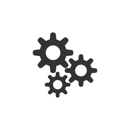 Icône de réglage. Conception de style plat Vecteurs