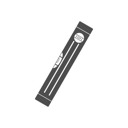 Symbol für Gebäudeebene. Wasserwaage. Vektorillustration flach