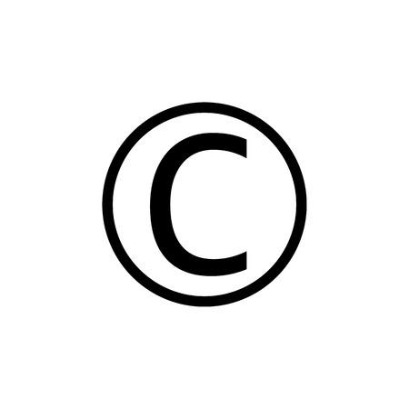 Copyright symbol icon. Vector illustration flat Illustration