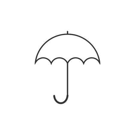 Umbrella icon, weather symbol. Vector illustration Flat