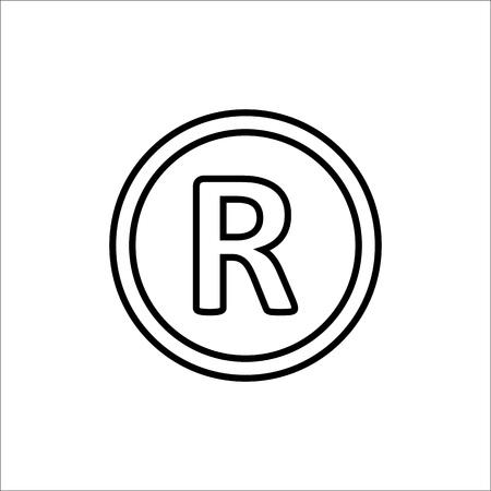 Registered Trademark symbol. Vector illustration flat