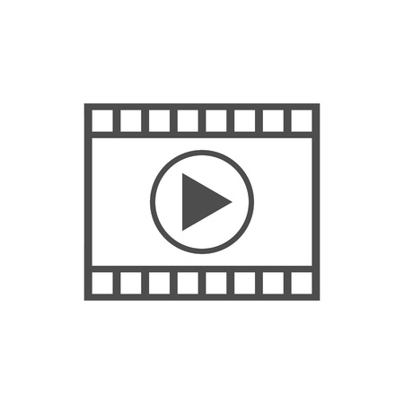 Vector illustration, flat design. Video player icon Ilustrace