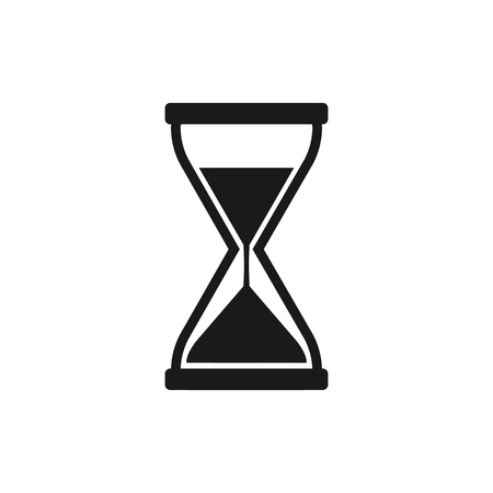 Hourglass, sand time icon flat vector  イラスト・ベクター素材