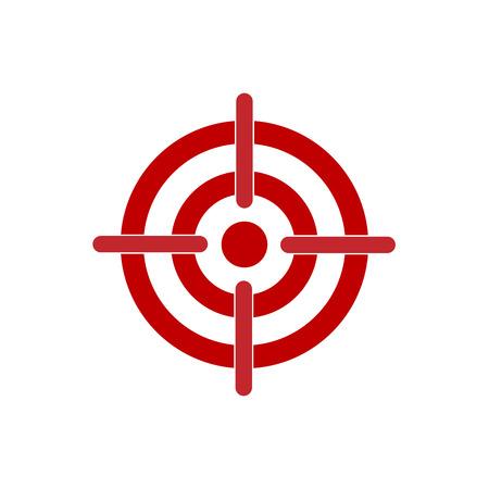 Vector illustration, flat design. Bow, center focus target icon