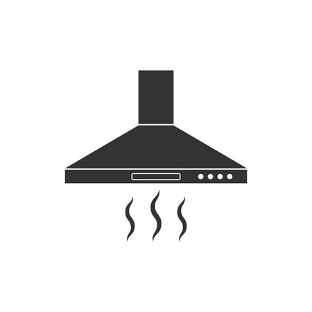 Vector illustration, flat design. Exhaust hood icon