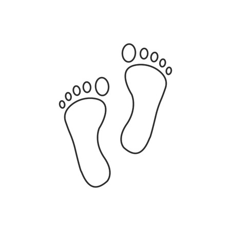 Foot, leg, print icon. Vector illustration, flat design. 矢量图像