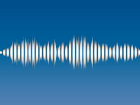 Abstract background music sound wave. Vector illustration