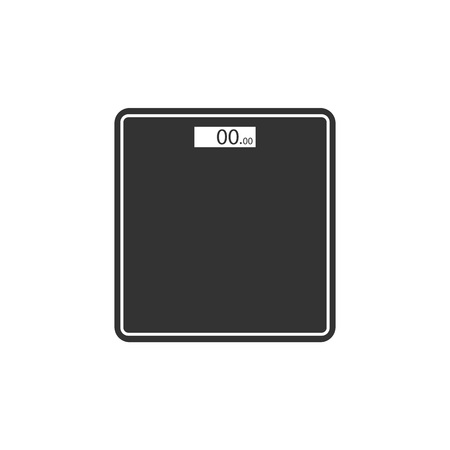 Vector illustration, flat design. Floor Scales icon
